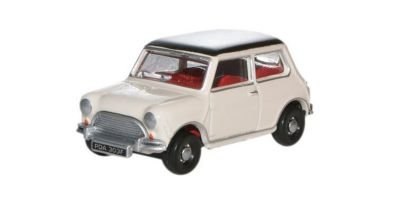 OXFORD 1/76scale Austin Mini Old English White / Black  [No.OX76MN002]