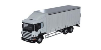OXFORD 1/76scale Scania 94 6 wheel Curtainside track White  [No.OX76S94003]