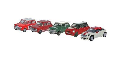OXFORD 1/76scale Mini Cooper five set  [No.OX76SET21]