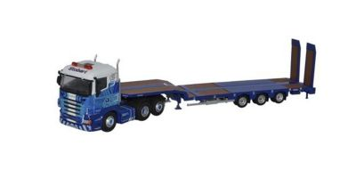 OXFORD 1/76scale Scania High Line Nooteboom 3 Axle Semi Low Loader Stobart Rail  [No.OX76SHL01ST]