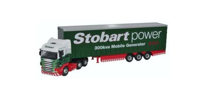 OXFORD 1/76scale Scania high liner Curtainside Stobart Power  [No.OX76SHL02CS]