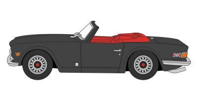 OXFORD 1/76scale Triumph TR6 Black  [No.OX76TR6004]