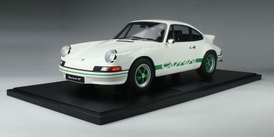 MINICHAMPS 1/8scale PORSCHE 911 CARRERA RS 2.7 LIGHT WEIGHT WHITE /GREEN LOGO LINE  [No.800653007]