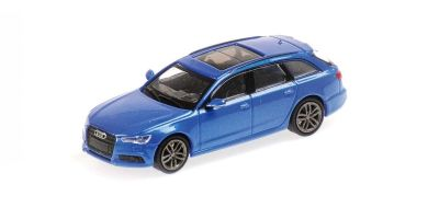 MINICHAMPS 1/87scale Audi A6 Avant 2018 Blue Metallic  [No.870018112]