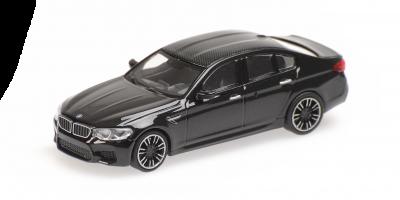 MINICHAMPS 1/87scale BMW M5 2018 Black Metallic  [No.870028002]