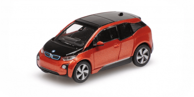 MINICHAMPS 1/87scale BMW I3 2014 Red Metallic  [No.870028102]