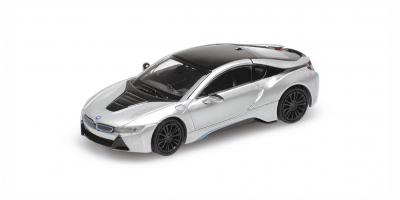 MINICHAMPS 1/87scale BMW I8 Coupe 2015 Silver  [No.870028220]