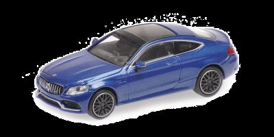 MINICHAMPS 1/87scale M-AMG C63 C Class Coupe (2015) Dark Blue  [No.870037020]