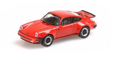 MINICHAMPS 1/87scale PORSCHE 911 TURBO – 1977 – RED  [No.870066100]
