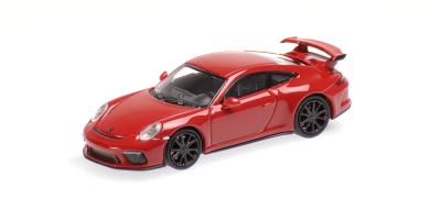 MINICHAMPS 1/87scale Porsche 911 GT3 2017 Red / Black Wheel  [No.870067322]