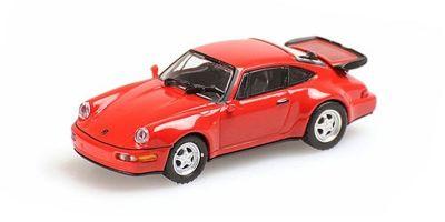 MINICHAMPS 1/87scale PORSCHE 911 TURBO – 1990 – RED  [No.870069100]