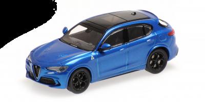 MINICHAMPS 1/87scale Alfa Romeo Stervo Quadrifolio 2018 Blue Metallic  [No.870120202]