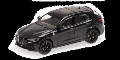 MINICHAMPS 1/87scale Alfa Romeo Stervo Quadrifolio 2018 Black Metallic  [No.870120204]