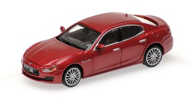 MINICHAMPS 1/87scale MASERATI GHIBLI – 2018 – DARK RED METALLIC  [No.870123001]