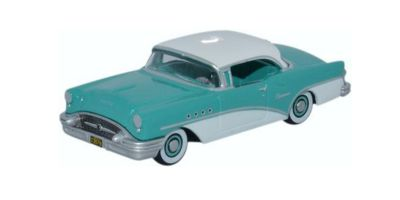OXFORD 1/87scale Buick Century 1955 turquoise / Polo White  [No.OX87BC55001]