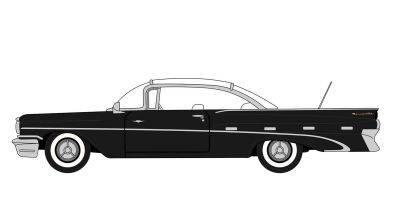 OXFORD 1/87scale Pontiac Bonneville Coupe 1959 Regent Black / White  [No.OX87PB59004]