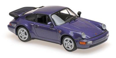 MINICHAMPS 1/43scale PORSCHE 911 TURBO (964) – 1990 – PURPLE METALLIC  [No.940069100]