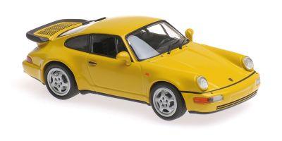 MINICHAMPS 1/43scale PORSCHE 911 TURBO (964) – 1990 – YELLOW  [No.940069104]
