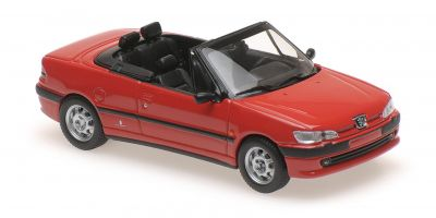 MINICHAMPS 1/43scale PEUGEOT 306 CABRIOLET – 1998 – RED  [No.940112830]