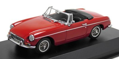 MINICHAMPS 1/43scale MGB CABRIOLET – 1962 – RED  [No.940131030]
