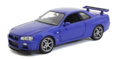 WELLY 1/24scale Nissan Skyline GT-R (R34) Metallic Blue  [No.WE24108MB]