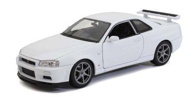 WELLY 1/24 ニッサン スカイライン GT-R(R34) ホワイト WE24108W