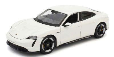 Bburago 1/24scale Porsche Taycan Turbo S (White)  [No.BUR21098W]