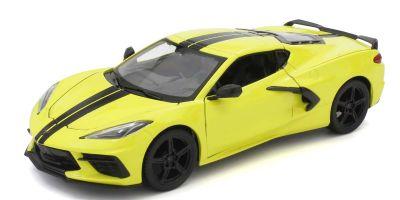 MAISTO 1/24scale Chevrolet Corvette C8 2020 Yellow  [No.MS31527YG]
