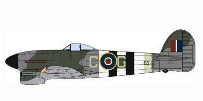 OXFORD 1/72scale Hawker Typhoon Mk1 121 Squadron RAF Holmesley South 1944  [No.OXAC100]