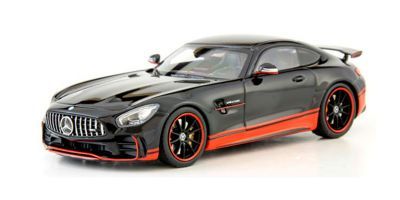 ALMOST REAL 1/43scale MERCEDES-AMG GT R – GLOSSY BLACK W/ RED STRIPE  [No.AL420709]