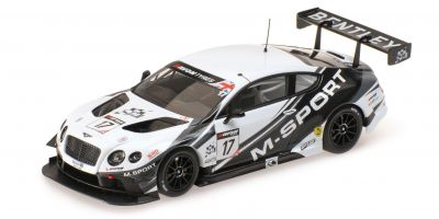 ALMOST REAL 1/43scale M SPORT BENTLEY GT3 BRITISH GT 2014 – SILVERSTONE #17 White/Gray  [No.AL430310]