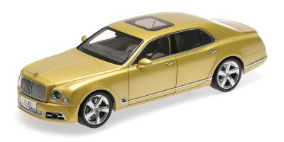 ALMOST REAL 1/18scale BENTLEY MULSANNE SPEED – 2017 – GOLD  [No.AL830101]