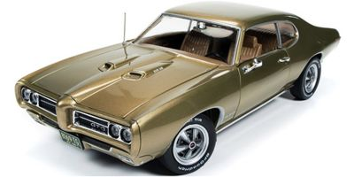 AMERICAN MUSCLE 1/18scale 1969 Pontiac GTO hard top (Hemmings) Antique Gold  [No.AMM1081]