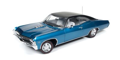 AMERICAN MUSCLE 1/18scale 1967 Chevrolet Impala SS Marina Blue  [No.AMM1083]