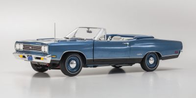 AMERICAN MUSCLE 1/18scale 1969 Plymouth GTX convertible 50th anniversary Jamaica Blue  [No.AMM1102]