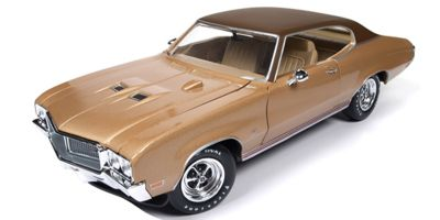 AMERICAN MUSCLE 1/18scale 1970 Buick Skylark GS Hemmings Muscle Machines (Gold)  [No.AMM1105]
