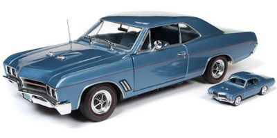 AMERICAN MUSCLE 1/18scale 1967 Buick GT Hardtop (Combine with 1:64 model) (Sapphire Blue)  [No.AMM1115]