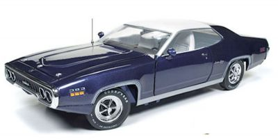 AMERICAN MUSCLE 1/18scale 1971 Plymouth Satellite Sebring Plus (MCACN) FC7 Purple / White  [No.AMM1146]