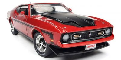 AMERICAN MUSCLE 1/18scale 1971 Ford Mustang Mach 1 (Hemmings Motor News) Code 3 Bright Red  [No.AMM1150]