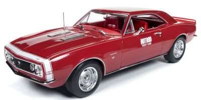 AMERICAN MUSCLE 1/18scale 1967 Chevrolet Camaro SS Test Car (Hot Rod Magazine) Red / White Line  [No.AMM1163]