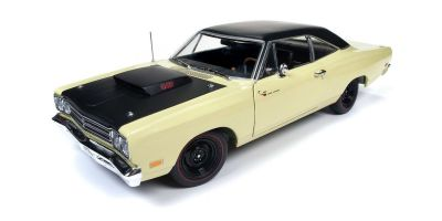 AMERICAN MUSCLE 1/18scale 1969.5 Plymouth Road Runner Coupe (Class of 69) Sunfire Yellow / Black  [No.AMM1179]