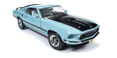 AMERICAN MUSCLE 1/18scale 1969 Ford Mustang Mach 1 (Class of 69) Aztec Aqua Blue  [No.AMM1181]