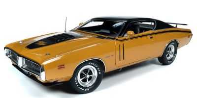 AMERICAN MUSCLE 1/18scale 1971 Dodge Charger R / T (MCACN) EL5 Butterscotch Yellow  [No.AMM1210]