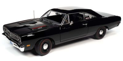 AMERICAN MUSCLE 1/18scale 1969 Plymouth Road Runner (Hemmings Muscle Machine) X-9 Tuxedo Black  [No.AMM1213]