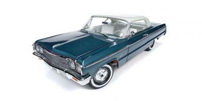 AMERICAN MUSCLE 1/18scale 1964 Chevrolet Impala (Lagoon Aqua Blue)  [No.AMM1219]