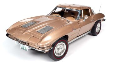 AMERICAN MUSCLE 1/18scale 1963 Shelby Corvette Stingray Coupe (Saddle Tan Brown)  [No.AMM1222]