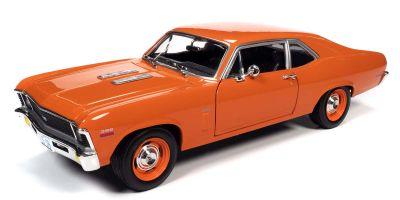 AMERICAN MUSCLE 1/18scale 1970 Chevy Nova SS 396 Haggar Orange  [No.AMM1226]