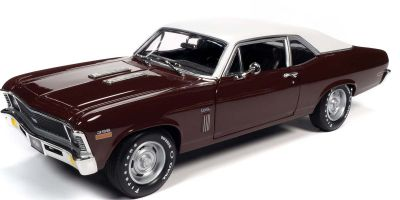 AMERICAN MUSCLE 1/18scale 1970 Chevy Nova SS 396 Black Cherry  [No.AMM1230]