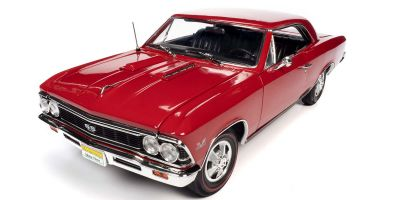 AMERICAN MUSCLE 1/18scale 1966 Chevy Chevelle SS 396 (Hemmings) Regal Red  [No.AMM1233]