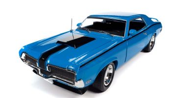 AMERICAN MUSCLE 1/18scale 1970 Mercury Cougar Hardtop (MCACN) Competition Blue  [No.AMM1253]